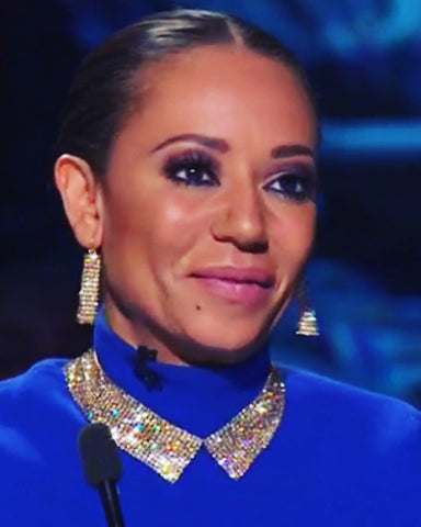 Crystal Mesh Collar as worn by Mel B on xfactor AU