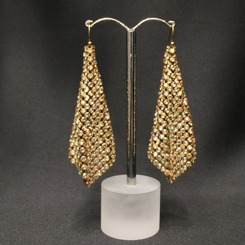 Gold Mesh Handkerchief Earrings - Instagram Sale