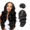 Beazilian virgin hair loose wave 4*4 lace closure