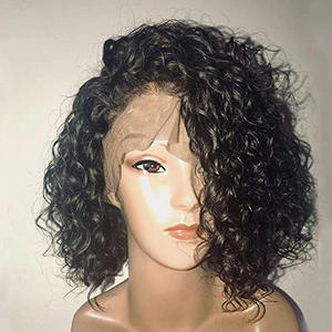 360 Lace Curly hair full lace short curly wigs
