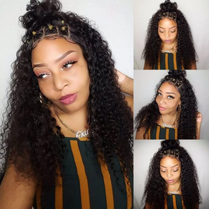 360 Lace Frontal Wig Hair Curly Human Hair Wigs - For Women Remy Hair Pre Plucked With Baby Hair