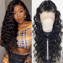 Load image into Gallery viewer, Glueless Full Lace Wigs For Women Deep Loose Wave Brazilian Virgin Human Hair Wig Pre Plucked With Baby Hair Black