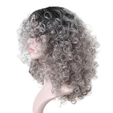 Load image into Gallery viewer, Supper Fluffy BoB Short Curly 360 Lace Wig - Gray Remy Human Wig