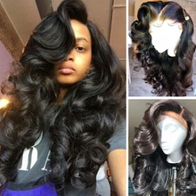 Load image into Gallery viewer, 360 Lace Wig Frontal Wig(BODY WAVE) - Human Wig - Black Wig