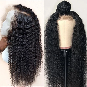 Long Curly 360 Lace Wig 200% Virgin - Human Wig -- Black/Brown Wig