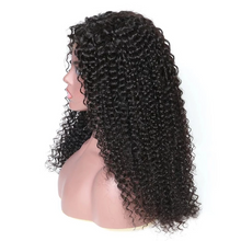 Load image into Gallery viewer, Long Fluffy Curly 360 Lace Wig - Human Wig - Black/Brown Wig