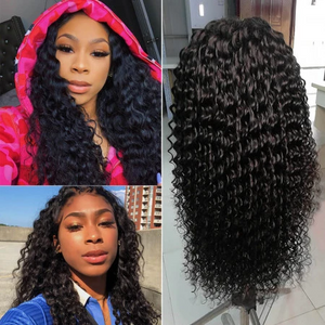 200 Density Brazilian Curly Long 360 Lace Wig Remy Human Hair