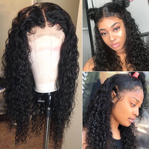 Curly 360 Lace Front Human Hair Wigs| Black Women Pre Plucked Brazilian Lace Wigs