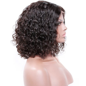 "Short Bob Curly 360 Lace Front Sassy Wigs | ""Green"" Wigs"