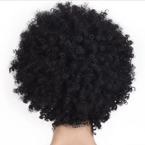 Best Design Short Layered Kinky Hair Wig with Side Bangs
