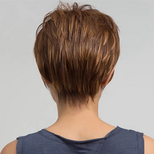 Load image into Gallery viewer, Lace Short Pixie Boycut Brown Wig | Human Hair/Black/Blonde/Brown
