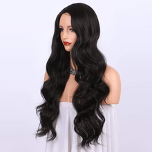 Load image into Gallery viewer, Lace Big Wave Black Long Curly | Synthetic Wig/Black/Blonde/Brown