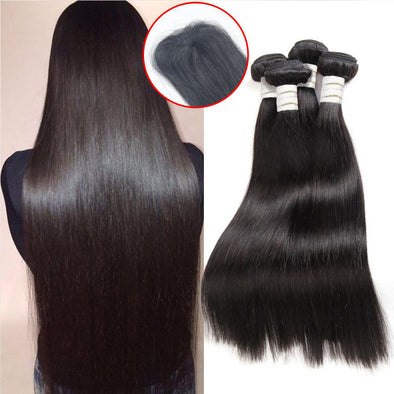 100% Human Virgin Silky Straight Brazilian Human Hair Wig