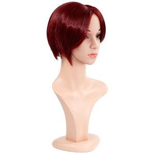 Wendy Hair Red Straight Wig Synthetic Cosplay Daily Party Wig for Women