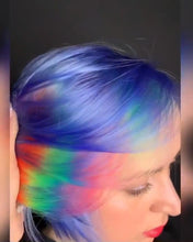 Load image into Gallery viewer, Blue Colorful Straight Hair Wig | Peruvian Bob Wig | 13*4 Lace Front Human Hair Wigs