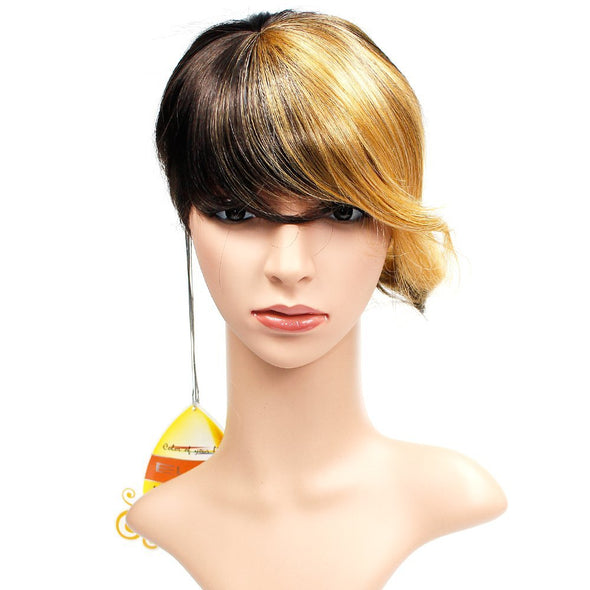 Wendy Hair Synthetic Full Hair Wig Daily Makeup Ombre Synthetic Wig Short Wig with Bangs