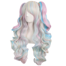 Load image into Gallery viewer, ApofBeauty Multi-color Lolita Long Curly Clip on Ponytails Cosplay Wig