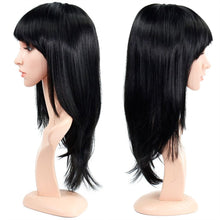 "Load image into Gallery viewer, Wendy Hair 16"" Straight Synthetic Hair Wig with Bangs Shoulder Length Full Hair Wig for Cosplay Party"