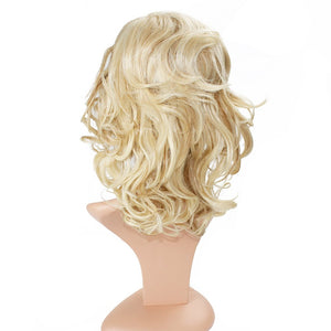 Wendy Hair Wig Women's 2 Tones Wave Synthetic Hair Short Wavy Curly Hair Wigs