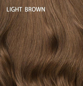 Loose Wave Synthetic Hair Wigs For Women  Brown Ombre Color 12inch Short Bob Glueless Hair Wig With Bangs Side Part