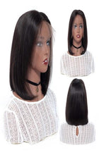 Load image into Gallery viewer, Closure wig Brazilian Ombre Human Hair Wig Short colored