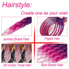 "Load image into Gallery viewer, WENDY HAIR Braiding Hair Extension 26"" 5 Packs Ombre Natural Professional Crochet Hair Hot Water Setting Perm Yaki Synthetic Hair for Twist Braids (M59)"