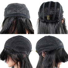 Load image into Gallery viewer, Wendy Hair Straight Black Synthetic Women Wigs Shoulder Length Layered Hair Wig Heat Resistant Fiber Natural Black Hair Full Wigs for Women