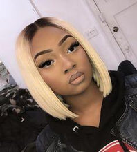 Load image into Gallery viewer, Blonde Color Straightb Bob Lace Front Bob Wig