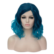 Load image into Gallery viewer, Cying Lin Short Bob Wavy Curly Wig Wine Red Wig For Women Cosplay Halloween Wigs Heat Resistant Bob Party Wig Include Wig Cap(38 colors)