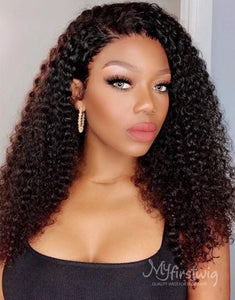 COVERUPBYSELORM - 5X5 CLOSURE WIG MALAYSIAN VIRGIN HAIR LÉONIE CURLY HAIR LACE FRONT WIG - LFC007