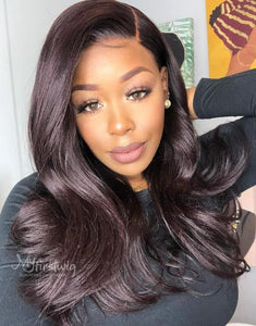 DOMINIQUE - 5X5 CLOSURE WIG MALAYSIAN VIRGIN HAIR VALENTINE'S DAY GLUELESS LACE FRONT WIG - LFS007