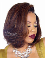 Load image into Gallery viewer, KAY - 5X5 CLOSURE WIG MALAYSIAN VIRGIN HAIR HIGHLIGHT BOB SHORT LACE FRONT WIG - LFW027