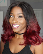 Load image into Gallery viewer, BARBRA - 5X5 CLOSURE WIG MALAYSIAN VIRGIN HAIR SEXY OMBRE WAVY LACE WIG - MFW003