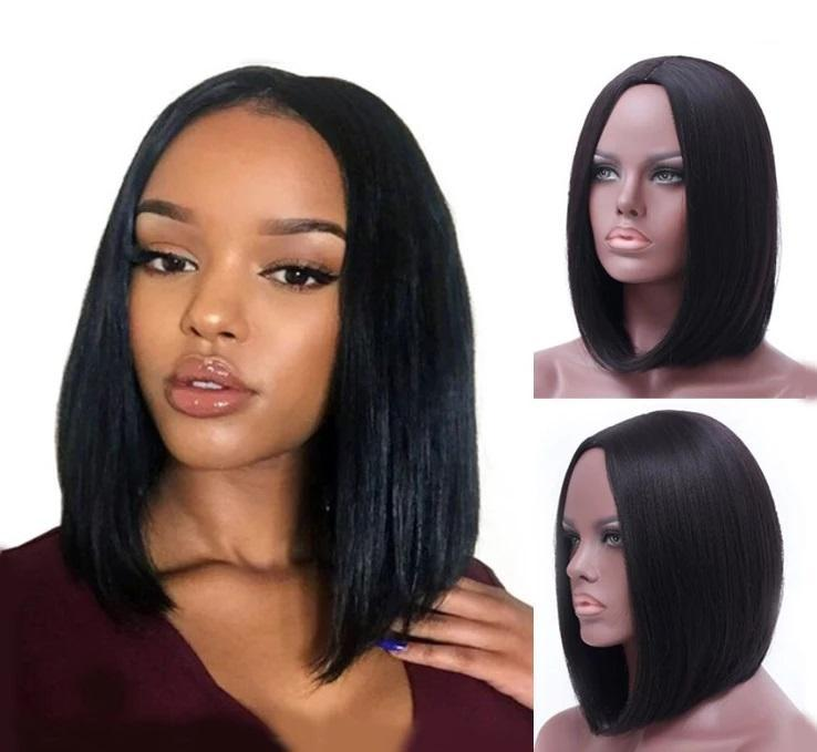 360 Lace Frontal Human Hair Wigs Straight Bob Pre-Plucked hairline