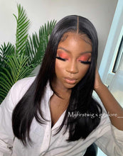 Load image into Gallery viewer, GGALORE - 5X5 CLOSURE WIG MALAYSIAN VIRGIN HAIR STRAIGHT LACE FRONT WIG WITH LAYERS - GG001