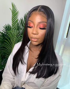 GGALORE - 5X5 CLOSURE WIG MALAYSIAN VIRGIN HAIR STRAIGHT LACE FRONT WIG WITH LAYERS - GG001