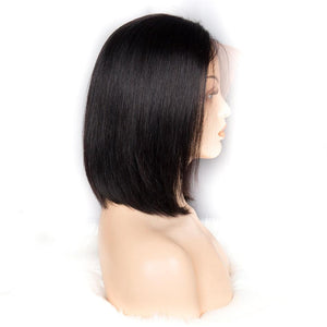 Short Cute Bob Straight Wigs - Human Hair
