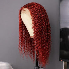 Load image into Gallery viewer, Preferred Red Curly Human Hair Wig With Baby Hair