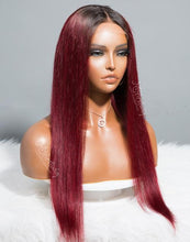 Load image into Gallery viewer, ARIES - ZODIAC COLLECTION HUMAN HAIR STRAIGHT RED WIG - ZC001