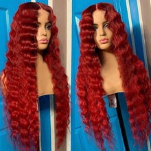 Load image into Gallery viewer, Lace Front Human Hair Wigs Water Hairline Human Hair Wigs Brazilian Reddish Hair