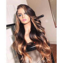 Load image into Gallery viewer, 13x6 Deep part Lace Front Human Hair Wigs Brazilian Remy Wavy