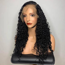 Load image into Gallery viewer, Brazilian Curly 360 Lace Frontal Wigs Lace Front Human Hair Wigs Pre Plucked With Baby Hair Remy Brazilian Lace Wig