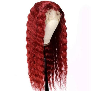 Lace Front Human Hair Wigs Water Hairline Human Hair Wigs Brazilian Reddish Hair