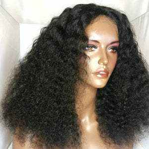 Short Kinky Curly Wigs for Black Women - Human Hair