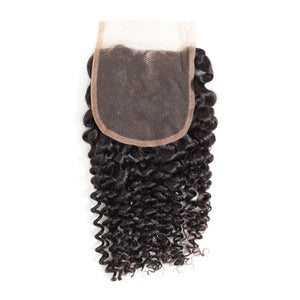 Top grade kinky curly 4*4 lace closure