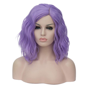 "BERON 14"" Women Girls Short Curly Bob Wavy Wig Body Wave Halloween Cosplay Daily Party Wigs ( Sixty-seven colors)"