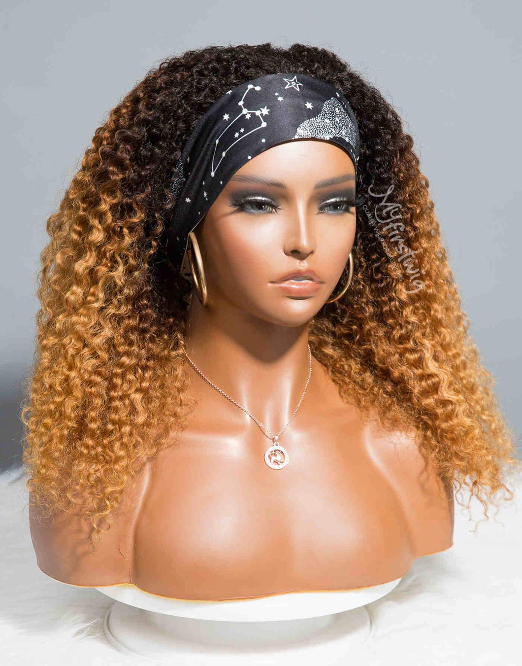 LEO - ZODIAC COLLECTION HUMAN HAIR OMBRE CURLY (3B-3C) WIG - ZC012