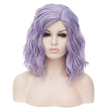 "Load image into Gallery viewer, BERON 14"" Women Girls Short Curly Bob Wavy Wig Body Wave Halloween Cosplay Daily Party Wigs ( Sixty-seven colors)"