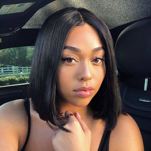 Short Bob Wigs 360 Lace Front Human Hair Wig - For Black Women Pre Plucked Hairline With Baby Hair Brazilian Remy Hair