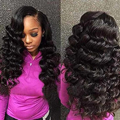 Big Wave Human Hair Wigs | Long Curly Wavy Full Hair Wigs